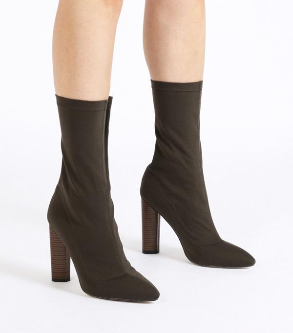 Gigi Hadid style: Public Desire Emily Sock Fit Stretch Boot