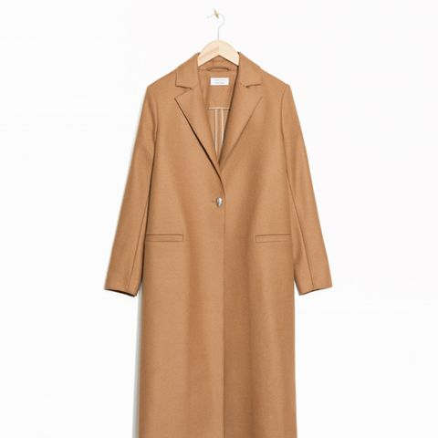 One Button Wool Coat