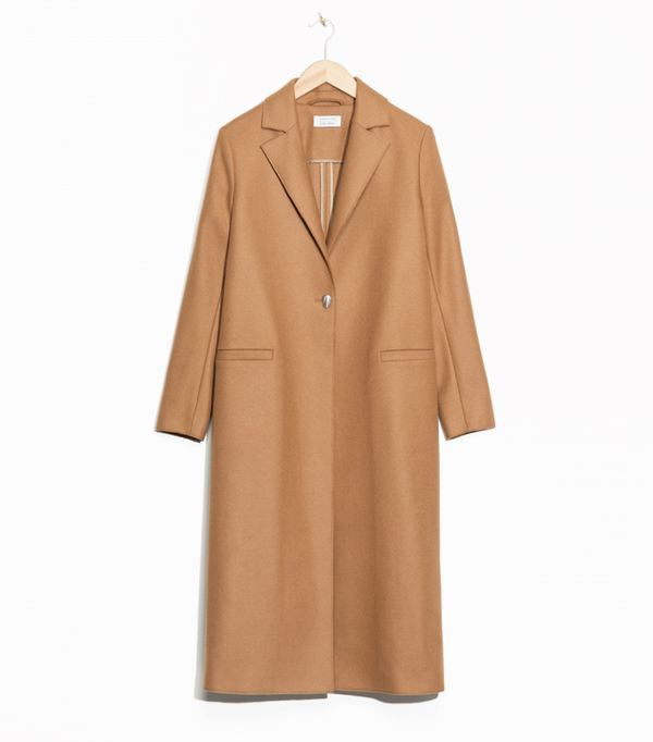 Gigi Hadid Style: & Other Stories One Button Wool Coat