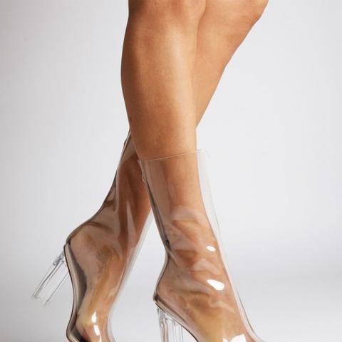 Tasha Clear Calf Boots