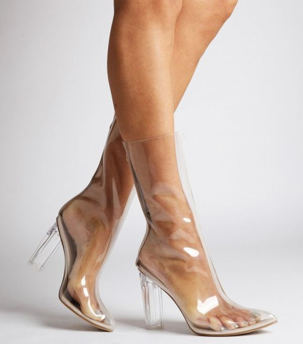 Gigi Hadid Style: Ego Tasha Clear Calf Boots