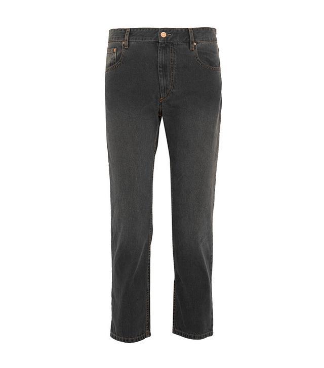 dark wash boyfriend jeans