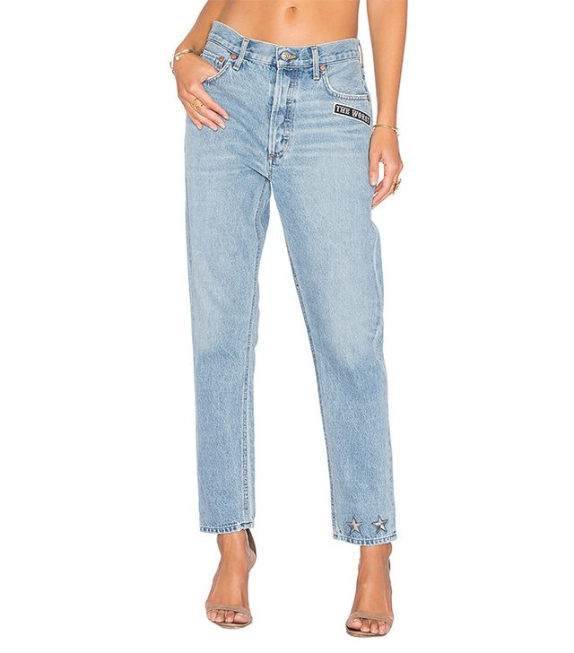 boyfriend jeans with patches