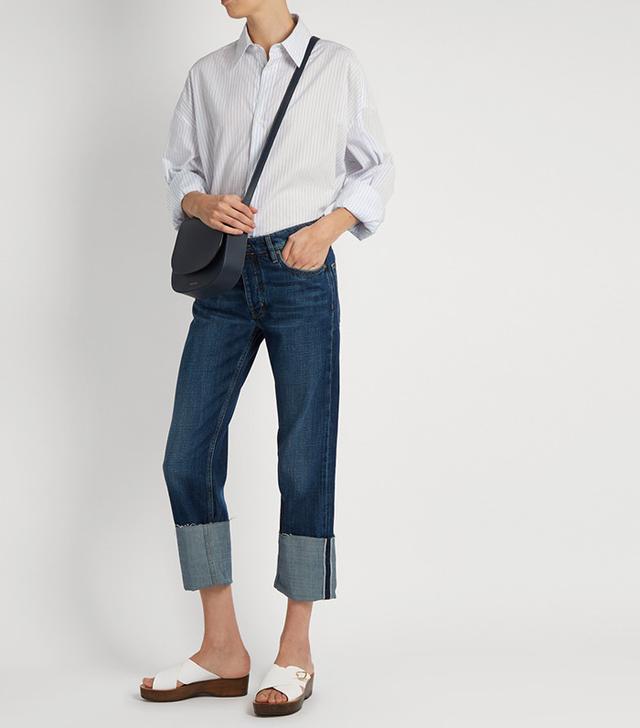 low waisted boyfriend jeans
