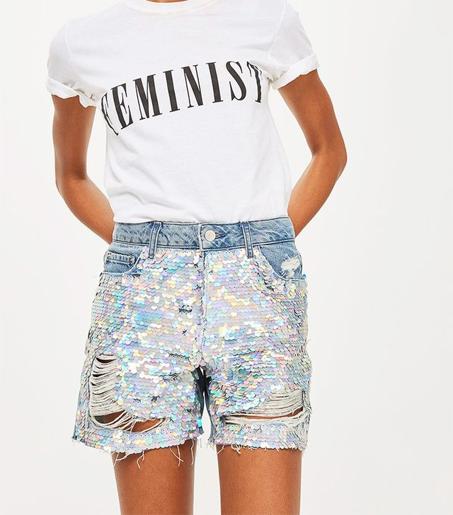 most fun denim shorts