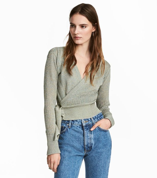 best knit wrap top