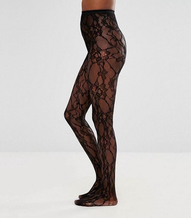 spring florals - ASOS Lace & Net Tights