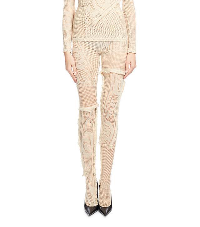 floral tights - Balenciaga Crocheted Lace Tights