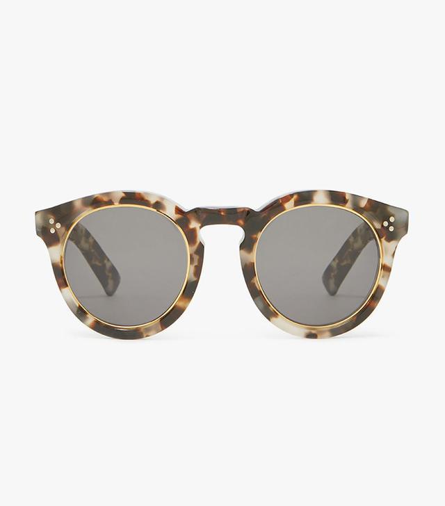 best round sunglasses - Illesteva Leonard II Ring Sunglasses in White Tortoise