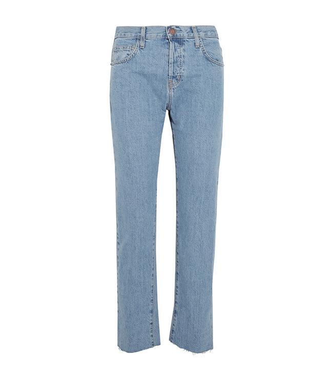 best straight leg jeans - Current/Elliott The Original Straight-Leg High-Rise Jeans
