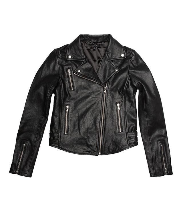 best affordable leather jacket - DSTLD Moto Jacket