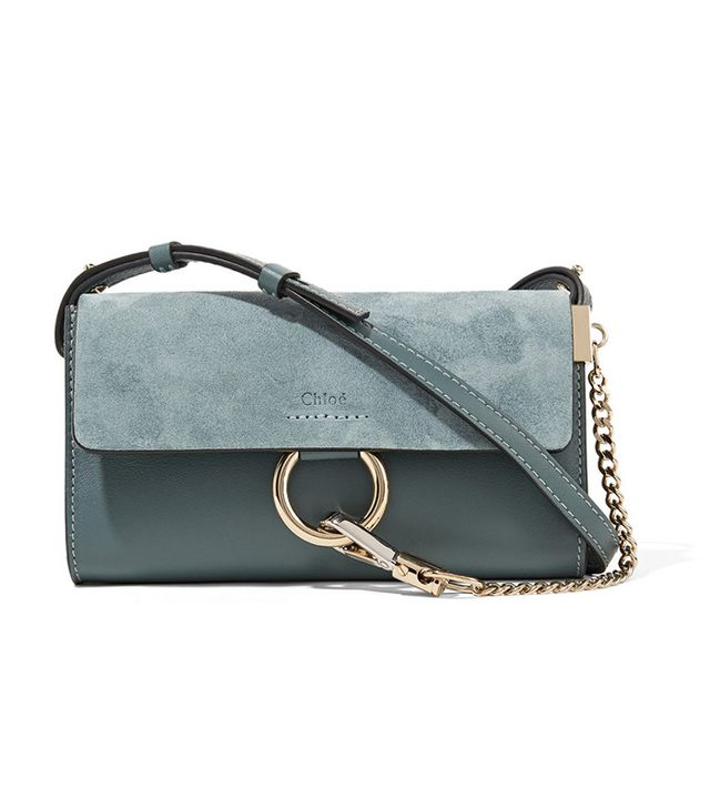 best suede mini bag - Chloé Faye Mini Leather and Suede Bag
