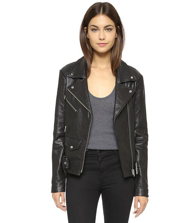 best leather jacket - VEDA Jayne Classic Leather Jacket