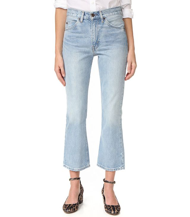 affordable cropped flare jeans - Levi's 517 Cropped Boot Cut Jeans