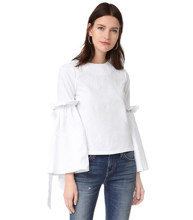 best bell sleeve top - Style Mafia Marine Top