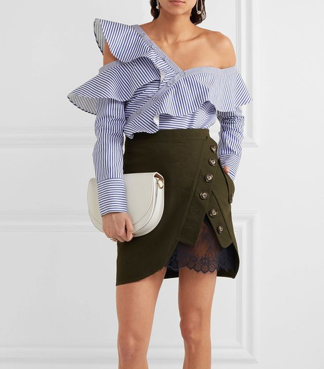 best ruffle statement top - Self-Portrait Off-the-Shoulder Ruffled Top