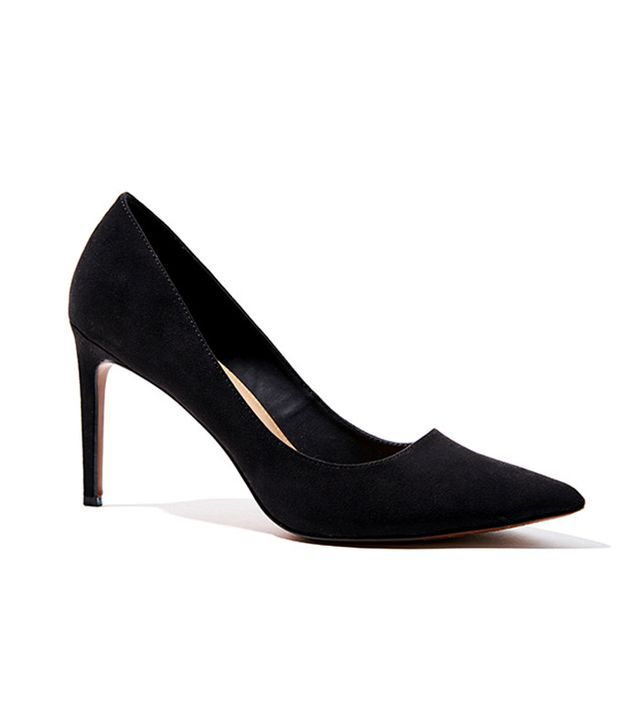 best black suede pumps