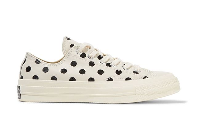 best polka dot sneakers- Converse Chuck Taylor All Star Embroidered Leather Sneakers