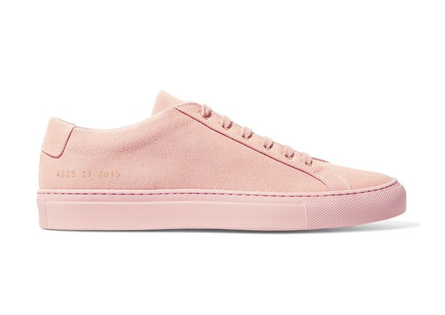 most stylish pink sneakers- Common Projects Original Achilles Canvas Sneakers