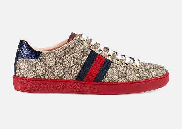 best logo sneakers- Gucci Ace GG Supreme Low-Top Sneakers