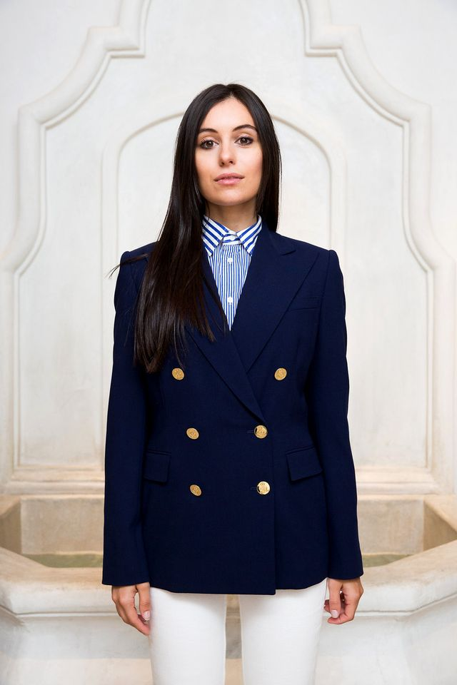 """For Pozzan, an Italian fashion editor–turned-blogger, the appeal of classic dressing is all in the tailoring, especially where jackets and coats are concerned. """"It feels empowering and very..."""