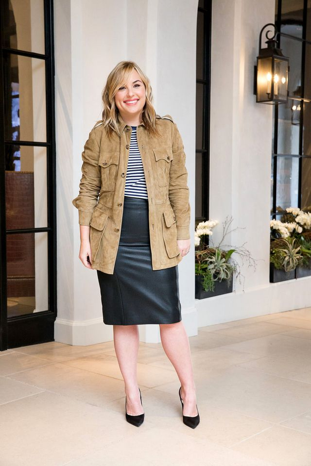 Think classic dressing leaves feminine pieces out of the mix? Think again. Clique Media Group co-founder Kerr applied her signature feminine, retro aesthetic to her look in the form of a leather...