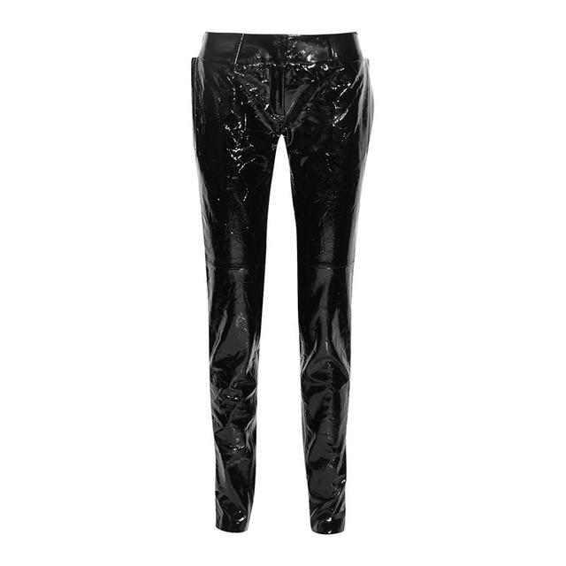 Ronald Van Der Kemp black patent leather pants
