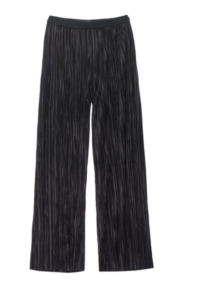 cozy black pants—Bobeau Noor Mini Pleat Palazzo Pant