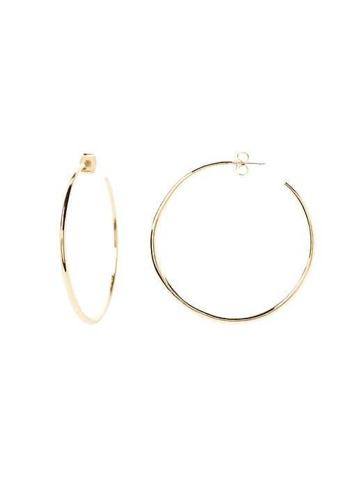 classic hoop earrings—Banana Republic Basic Hoop Earrings