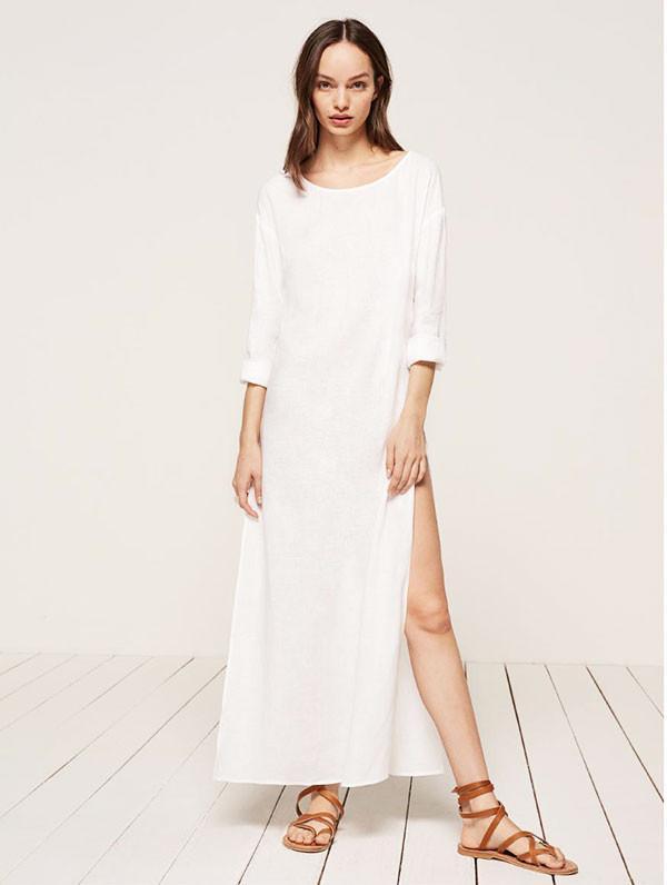 white maxi dress