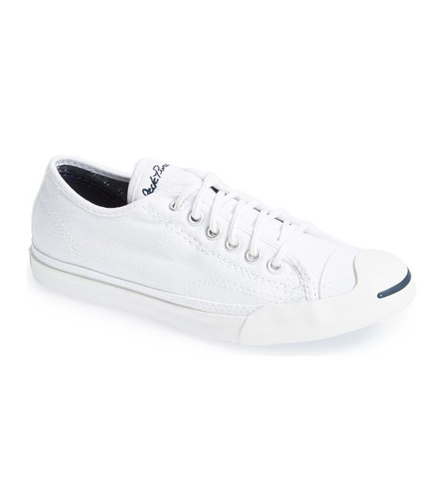how to style white sneakers—Converse Jack Purcell LP Low Top Sneakers