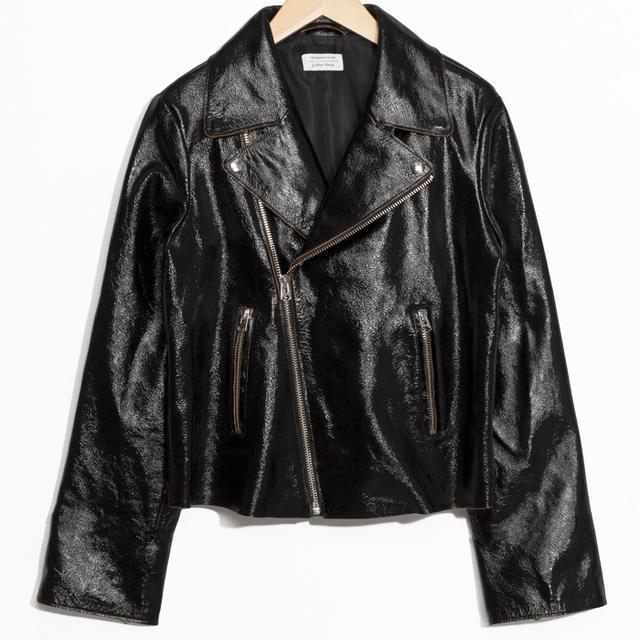 French Fashion Basics:  & Other Stories Leather Jacket