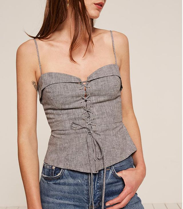 best light tops for spring - corset top