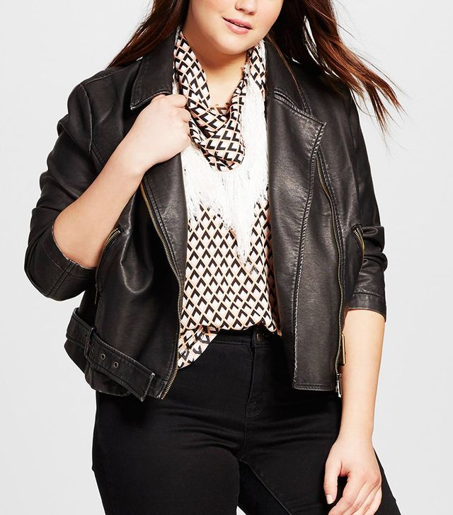 Who What Wear Women's Plus Size Moto Jacket