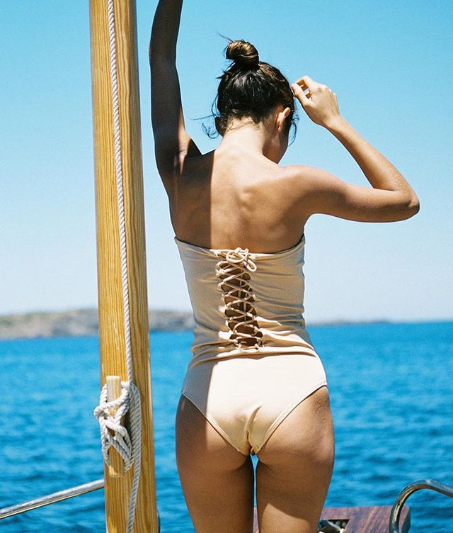 best lace up one piece