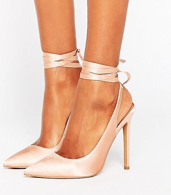 satin spring shoe trend