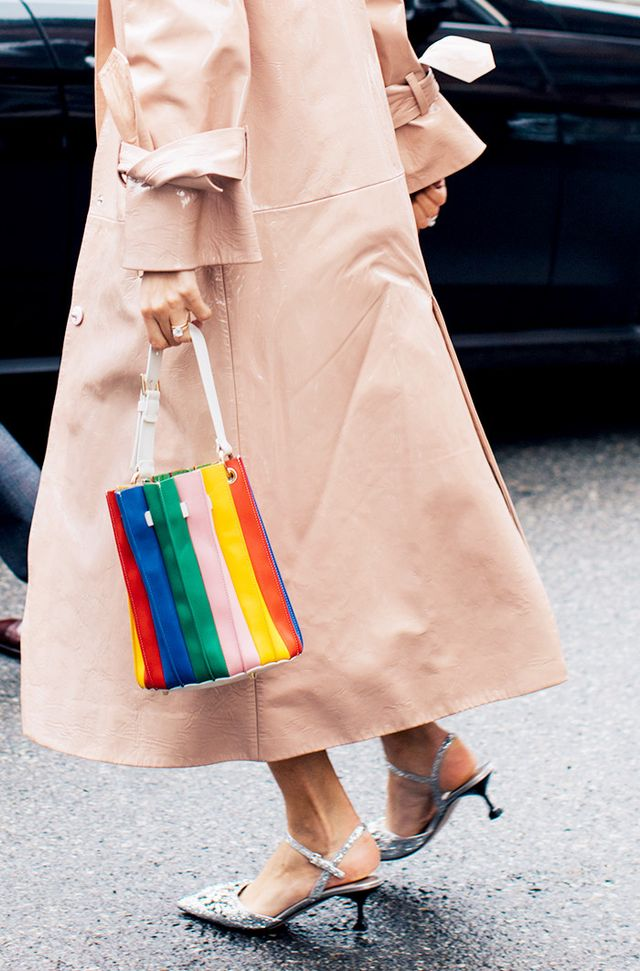 colorful bucket bag