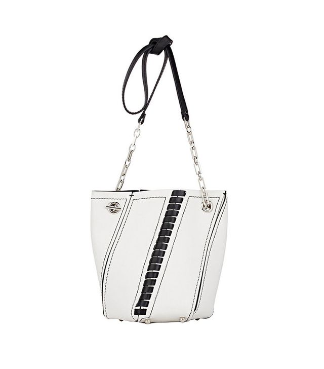 best white handbag