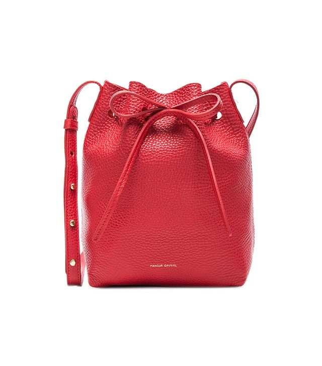 best red handbag
