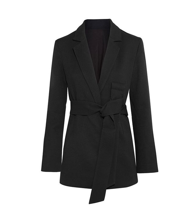 classy black blazer