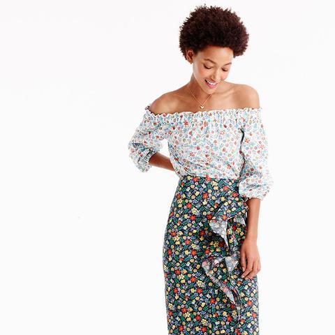 Ruffle Skirt in Liberty Edenham Floral