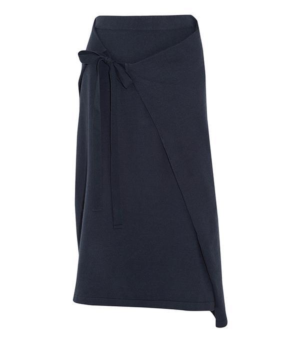Joseph Wrap-Effect Cotton-Jersey Midi Skirt