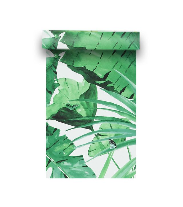 Walls Republic Tropical Natural Green And White Leaves Wallpaper R4191