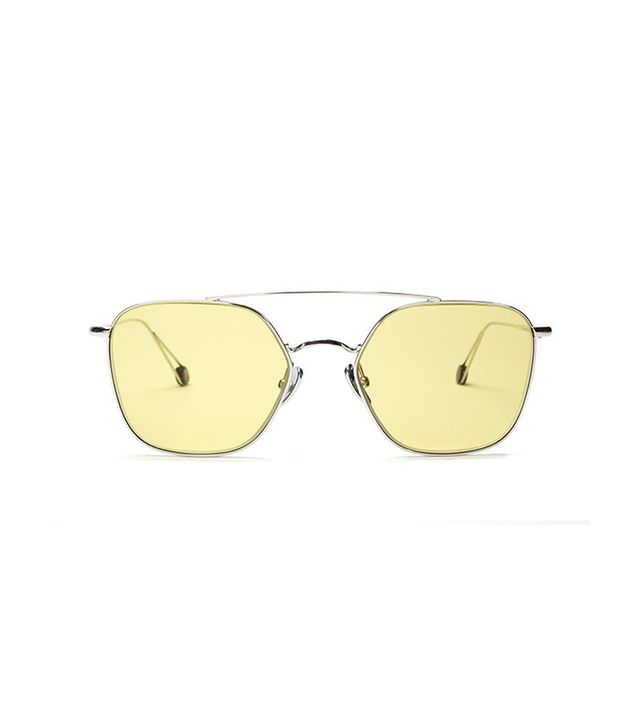 Ahlem Eyewear Concorde While Gold With Yellow Lenses Limted Edition