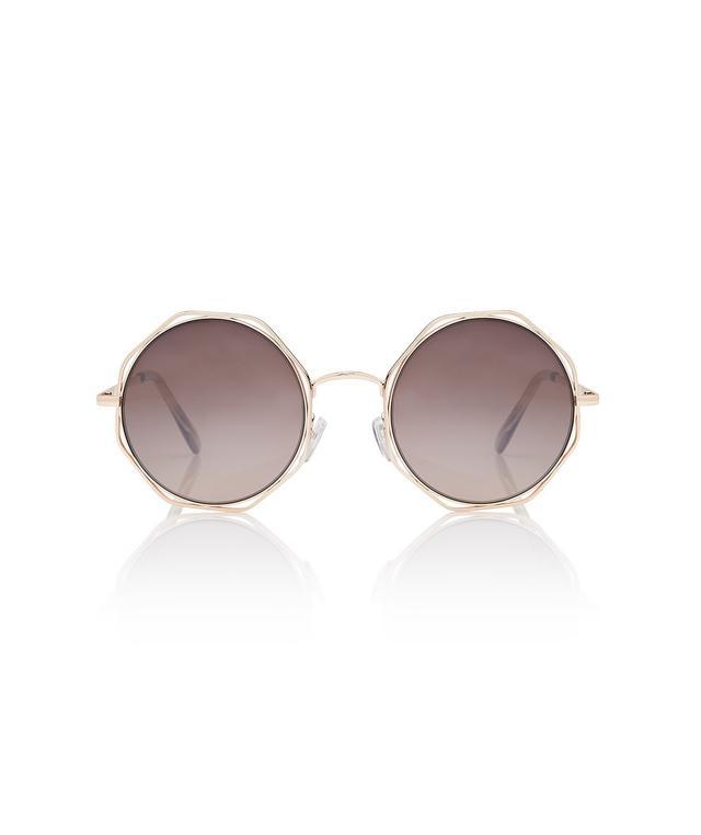 Sportsgirl Rushmore Gold Sunglasses