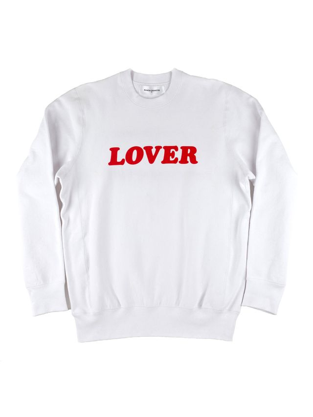 comfy sweatshirt—Bianca Chandon Lover Crew Sweatshirt