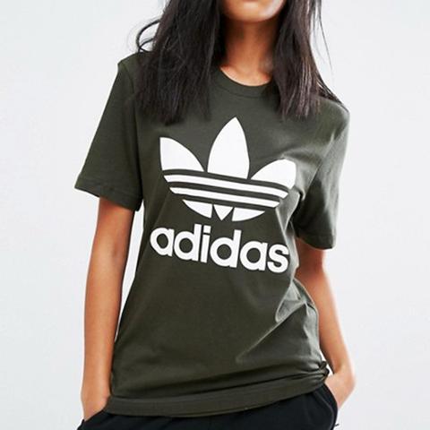 Originals Khaki Trefoil Boyfriend T-Shirt