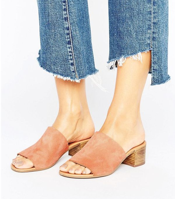 affordable suede mules