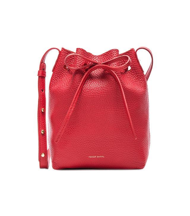 best red handbag