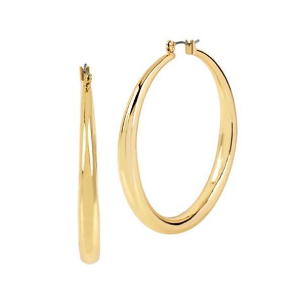 best hoop earrings—Kenneth Cole Goldtone Hoop Earrings